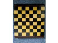 Antique folding chessboard.