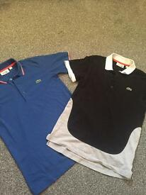 Boys /men's Lacoste T Shirts Size 2