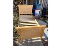 Wooden Ash Single Bed