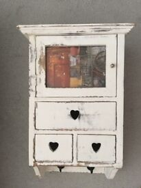 Small White Shabby Chic Cabinet