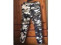 Women's khaki/army festival trousers size 8/10