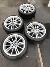 Bmw 3 Series MV3 Alloys with runflat tyres E90 E91 E92 m sport alloys