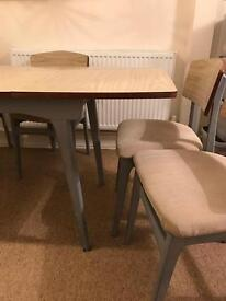 Formica table and six chairs