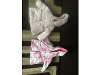 Baby girl clothes and Moses basket clothes bundle
