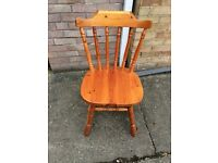 2 solid wood pine chairs