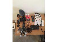Panasonic Lumix G7 + Alot Of Accessories +Gorrila Pod Joby ballhead +3 SD CARDS+MORE
