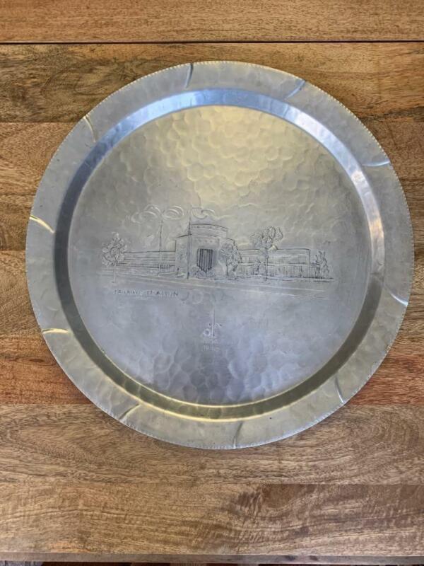 1939 1940 NEW YORK WORLDS FAIR LARGE TRAY or platter EVERLAST aluminum
