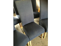 SIX DEEP SEAT HIGH BACK DINING CHAIRS-FOR RECOVERING *FREE*
