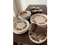 Dinning plates cups and saucers