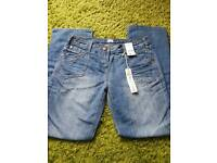Ladies size 12 long Boyfriend style jeans. (New)