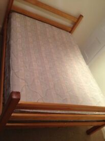 Double bed wooden design