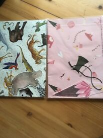 Wrapping paper sheets for girls