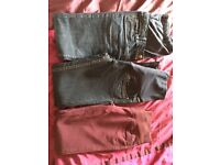 Maternity bundle all size 8 apart from purple jeans which are a 10