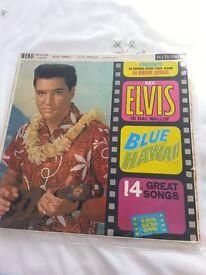 "Elvis Presley 12"" LP,Blue Hawaii RARE BLACK LABEL RED SPOT VERSION"