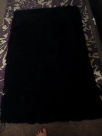 Black Shag Pile rug/Carpet £20 Glasgow West End