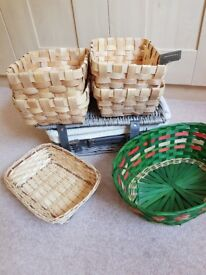 Baskets for using as hampers