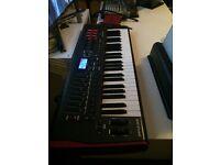 Novation impulse 49 key midi keyboard with silk dust cover in original box £160