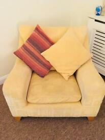 3 seater couch and arm chair - free - collection only