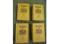 Selection of Wisden Cricketers' Almanacks