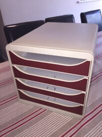Plastic office drawers for A4 papers, filing storage crafting card making