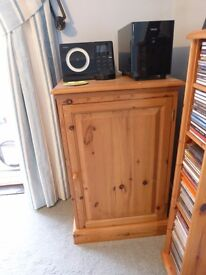 Pine cupboard/hifi unit