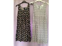 2 x H&M maternity dresses size 8