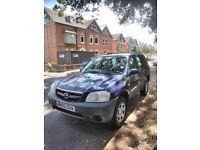 Mazda Tribute GXI 4x4 2002 Petrol Blue – 12-month MOT +-107000 miles