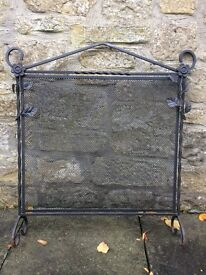 Antique Steel Fireguard