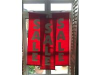 3 x Large Canvas Hanging 'SALE' Banners