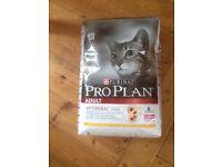 Purina ProPlan Cat Food 10kg, Chiken flavour optirenal.