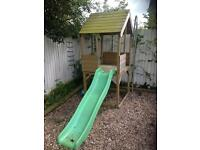 TP playhouse climbing frame slide wooden