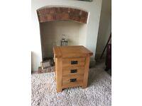 Solid Oak Bedside Drawer/Table