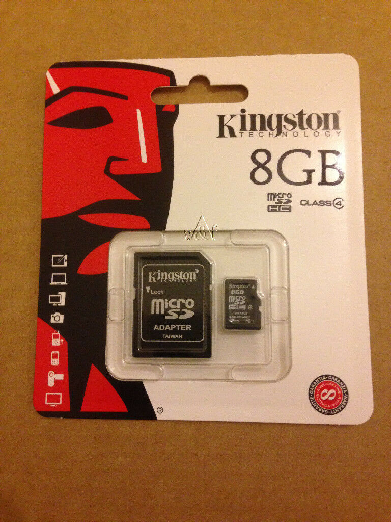 GENUINE KINGSTON 8GB CLASS 4 MICRO SDHC MEMORY CARD WITH SD ADAPTER HC UHS 1(Min Order 5pcs)