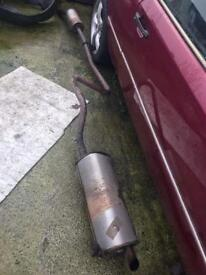 Ford fista exhaust complete