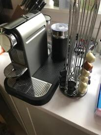 Nespresso Ciliz by Krups with Aerocinno and capsule holder