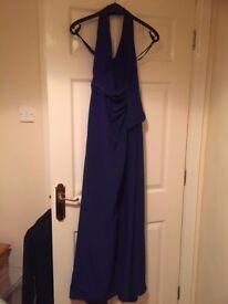 **ROYAL BLUE BRIDESMAID DRESS** ivory bride shoes + flower girl dress + accessories