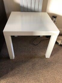 White ikea square coffee table