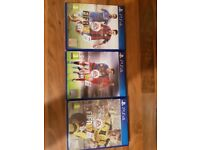Fifa '15, '16 and '17 for PS4