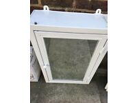White mirrored cabinet / medicine cabinet from Loaf