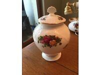 Royal Albert Old Country Rose Ginger Jar/urn