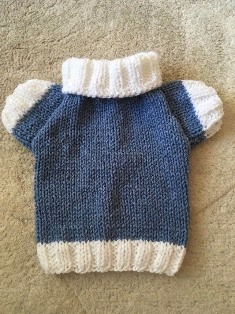 HAND KNITTED SOFT DOG JUMPER