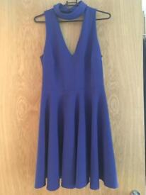 Blue Newlook skater dress size 10