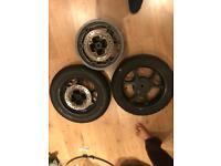 Motor bike Rear and front wheels Honda Ps