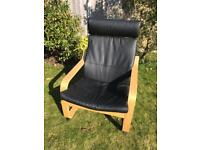 POANG Leather IKEA Chair, Brand New