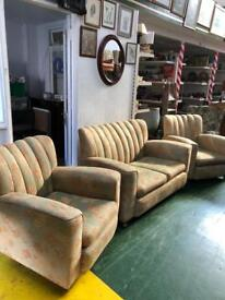 2 chairs and sofa