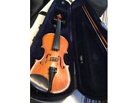 3/4 size Antoni violin - Lovely tone - Suit beginner- Including Case and Bow