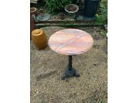 Gorgeous marble topped bistro / side / garden table