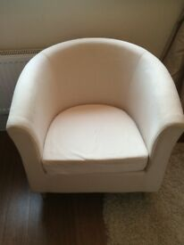 Ikea cream tube chair