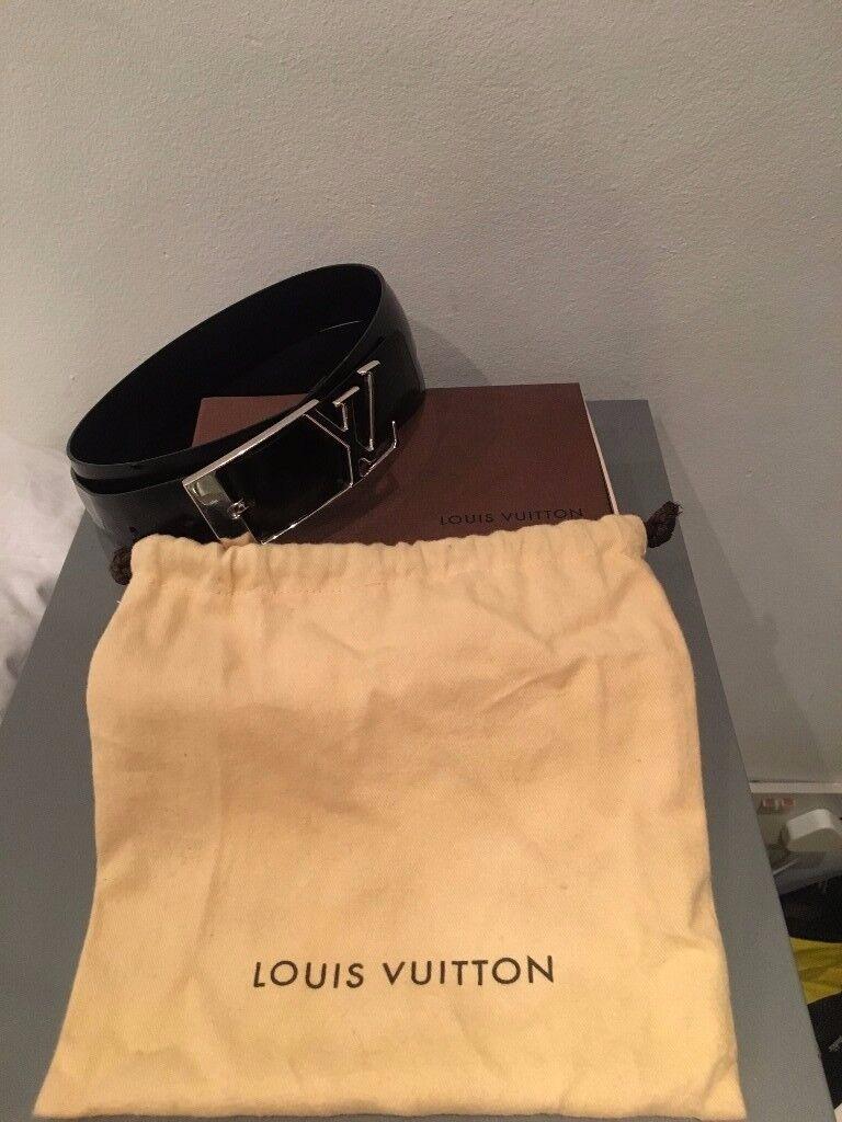 Louis Vuitton Black Belt Monogramme 95 cm 38 inch - Worn Only 3 Times