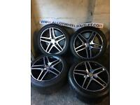 📦 🚚 Delivery 18 Inch GENUINE AMG MERCEDES W212 E CLASS ALLOY WHEELS TYRES ALLOYS 5x112